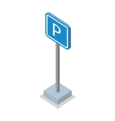 Parking Place Road Sign vector image vector image