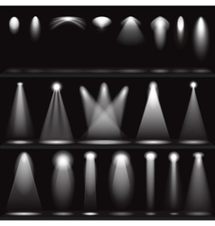Set of scene illuminations spotlights vector image