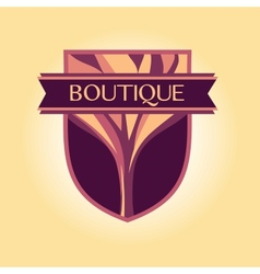 style logo Clothing accessories wood products vector image vector image