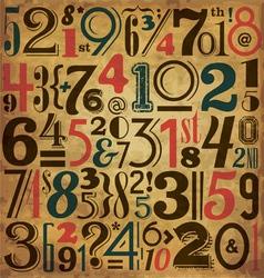 Vintage Numbers vector image vector image