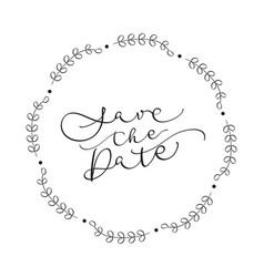 save the date text on white background vector image vector image