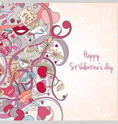 st valentine s day invitation card vector image
