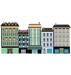 stylized ancient houses vector image vector image