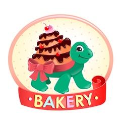 Turtle Cake logo vector image vector image