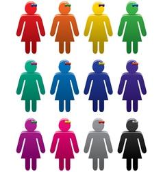 woman symbols vector image vector image