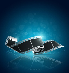 Camera film roll blue background vector