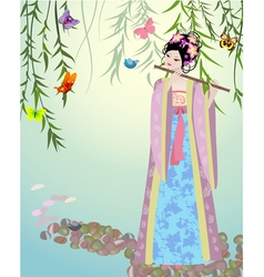 China girl3 vector image vector image