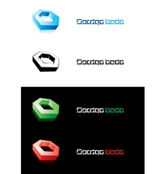 design element nut vector image