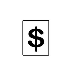 dollar sign icon vector image vector image
