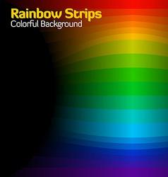 rainbow strips vector image