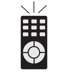 remote icon on white background vector image vector image