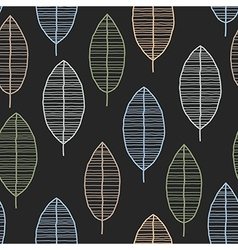 Seamless Tile With 50s Retro Leaf Pattern vector image