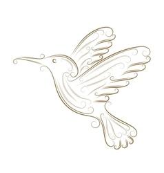 Sketch of hummingbird vector image vector image
