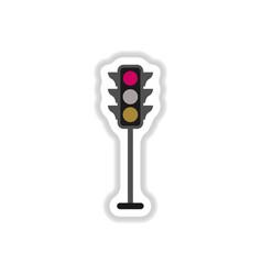 Traffic light sticker vector