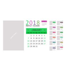 2018 calendar planner design vector