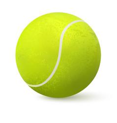 3d realistic tennis ball vector