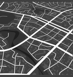 abstract black city map print with town vector image