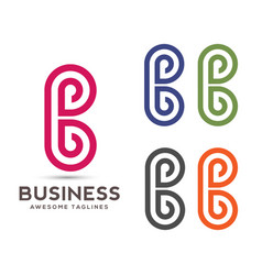 abstract letter b logo vector image