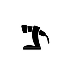 Barcode scanner flat icon vector