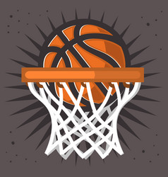 Basketball hoop and a ball design graphic vector