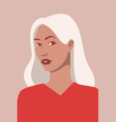 beautiful avatar blonde girl on pink vector image