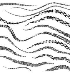 Binary Code Algorithm Decryption and Encoding vector image