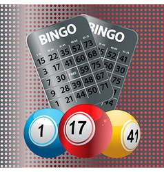 Bingo balls and metallic Bingo cards vector