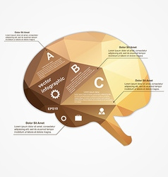 Brain infographic vector image