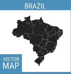 brazil map with title vector image