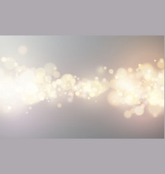 bright bokeh effect festive magic luminous vector image