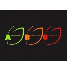 Bright labels vector