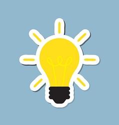 Bright light bulb vector