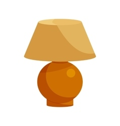 Brown table lamp icon cartoon style vector