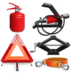 car accessories kit vector image