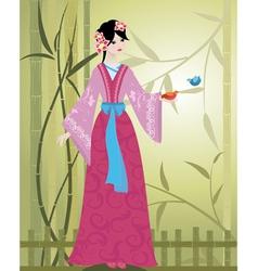 China girl4 vector image