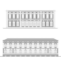 City street facades set vector