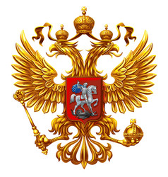 Coat of arms of russia on a white background vector