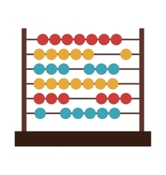 Colorful abacus icon vector