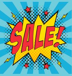 comic speech bubbles sale vector image