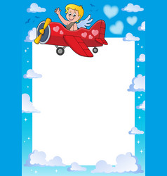 cupid thematics frame 3 vector image