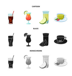Design of drink and bar sign set of drink vector