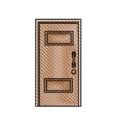 door wood entry place vector image