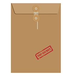 Envelope stamp top secret vector image