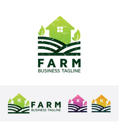 farm logo design vector image