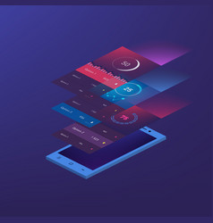 flat design responsive management and vector image