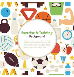 Flat Sport Exercise and Training Background vector