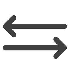 Flip arrows horizontally flat icon symbol vector