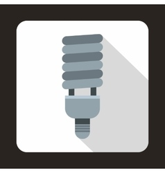 Fluorescent bulb icon flat style vector image