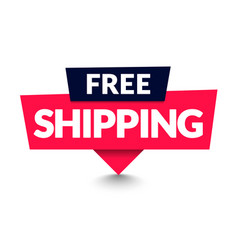 free shipping sign with arrow modern web banner vector image