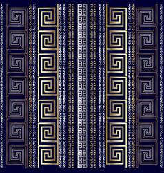 greek modern 3d seamless pattern grunge striped vector image